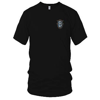 US Army - 12th Special Forces Group Crest OD Green Blue 12 Embroidered Patch - Kids T Shirt