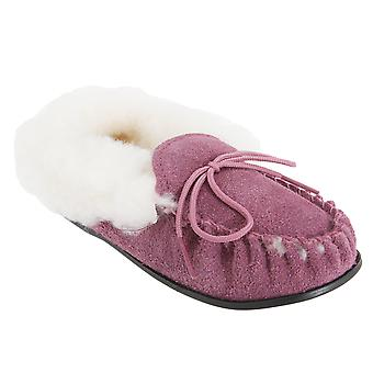 Mokkers Girls Kirsty Moccasin Real Suede Slippers