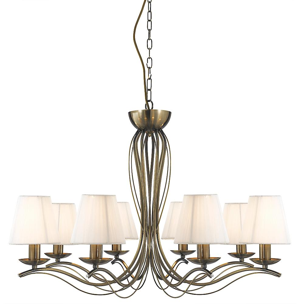 9828-8AB Andretti Antique Brass 8 Light Pendant Ceiling Light