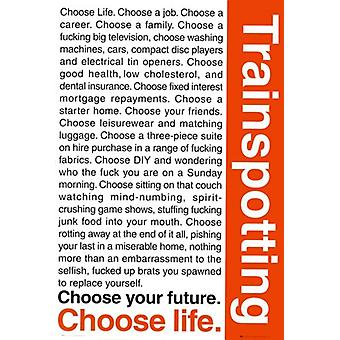 Trainspotting - Life Words Poster Poster Print