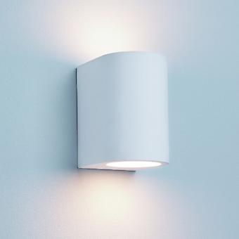 G9 White Curved Cylinder Plaster Wall Light - Searchlight 8436