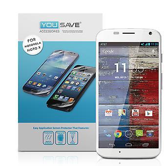 Yousave Motorola Moto X Display-Schutzfolien - 3er-Pack