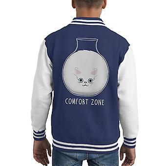 Squishy Cat Comfort Zone Kid's Varsity Jacket
