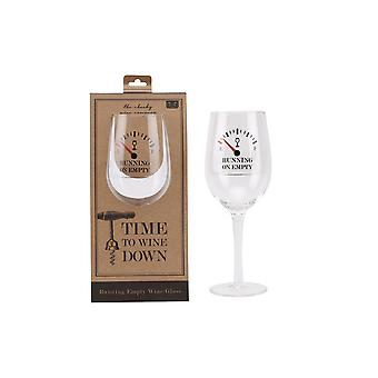 CGB Giftware Loft Running On Empty Wine Glass