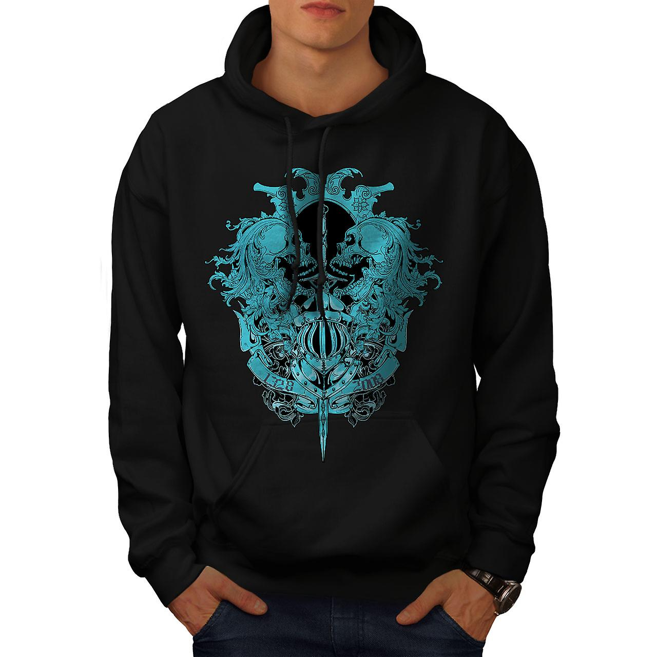 Ghost Skull Dead Vintage Men Black Hoodie | Wellcoda