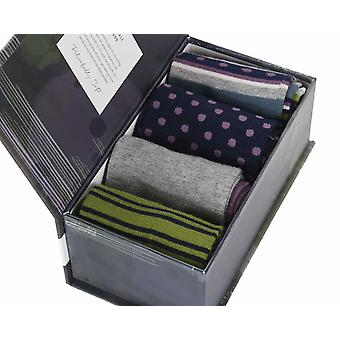 Montfield Gift Box by Thought | 4 pairs of men's soft bamboo crew socks