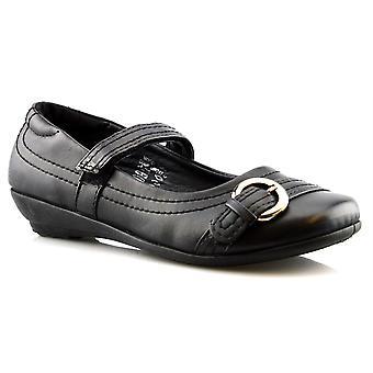 Niedrige Keil Mary Jane Style Touch Befestigung formalen Mädchenschule Schuhe