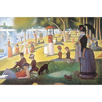 Seurat dimanche dimanche sur la Grande Jatte affiche Poster Print