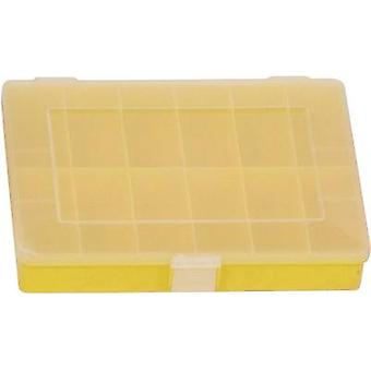 Assortment box (L x W x H) 250 x 180 x 45 mm Alutec No. of compartments: 12 fixed compartments