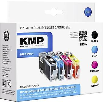 KMP Ink replaced HP 364 Compatible Set Black, Cyan