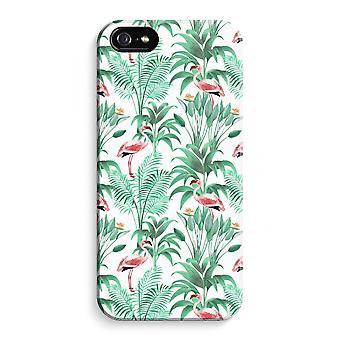 iPhone 5C Full Print Case (Glossy) - Flamingo leaves