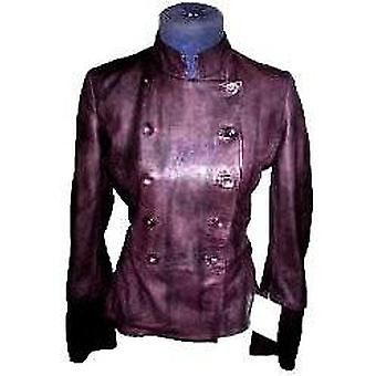 Womens New Yorker Leather Coat