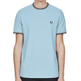 Fred Perry M1588 Twin Tipped T-Shirt Glacier couleur: Glacier,
