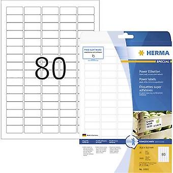 Herma 10901 Labels (A4) 35.6 x 16.9 mm Paper White 2000 pc(s) Permanent Adhesive labels (extra strong), All-purpose labe