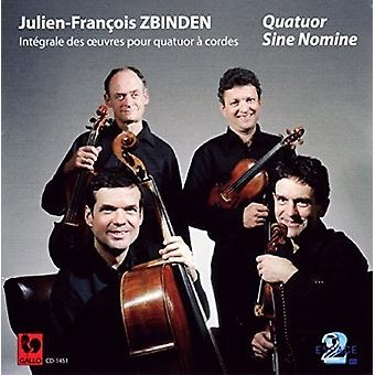 Zbinden / Quatuor sinus Nomine - klassisk kvartetten [CD] USA import