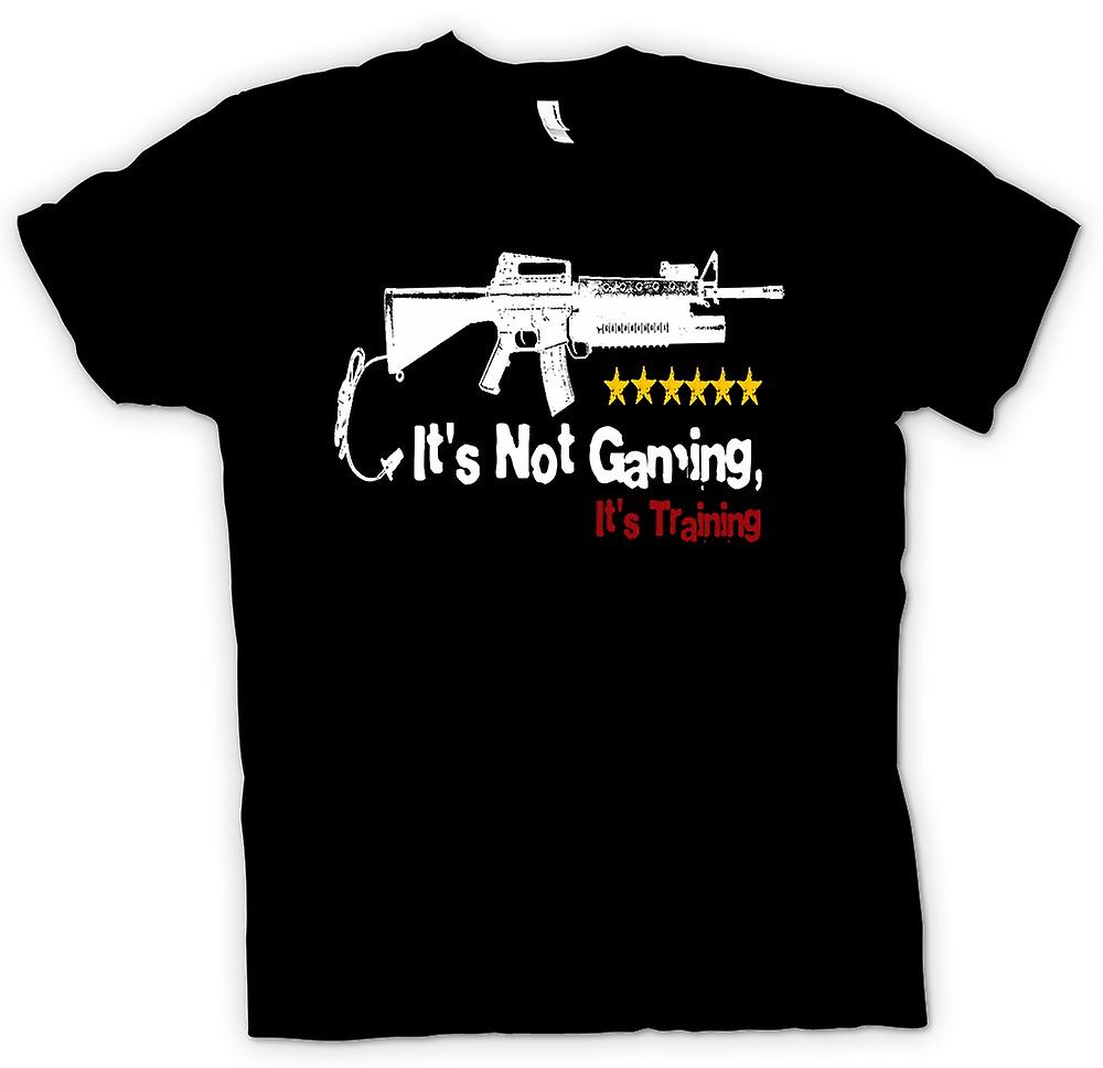 Womens T-shirt - It's Not Gaming It's Training - Funny