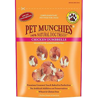 Pet Munchies Natural Dog Treats Chicken Dumbbells 80g (Pack of 8)