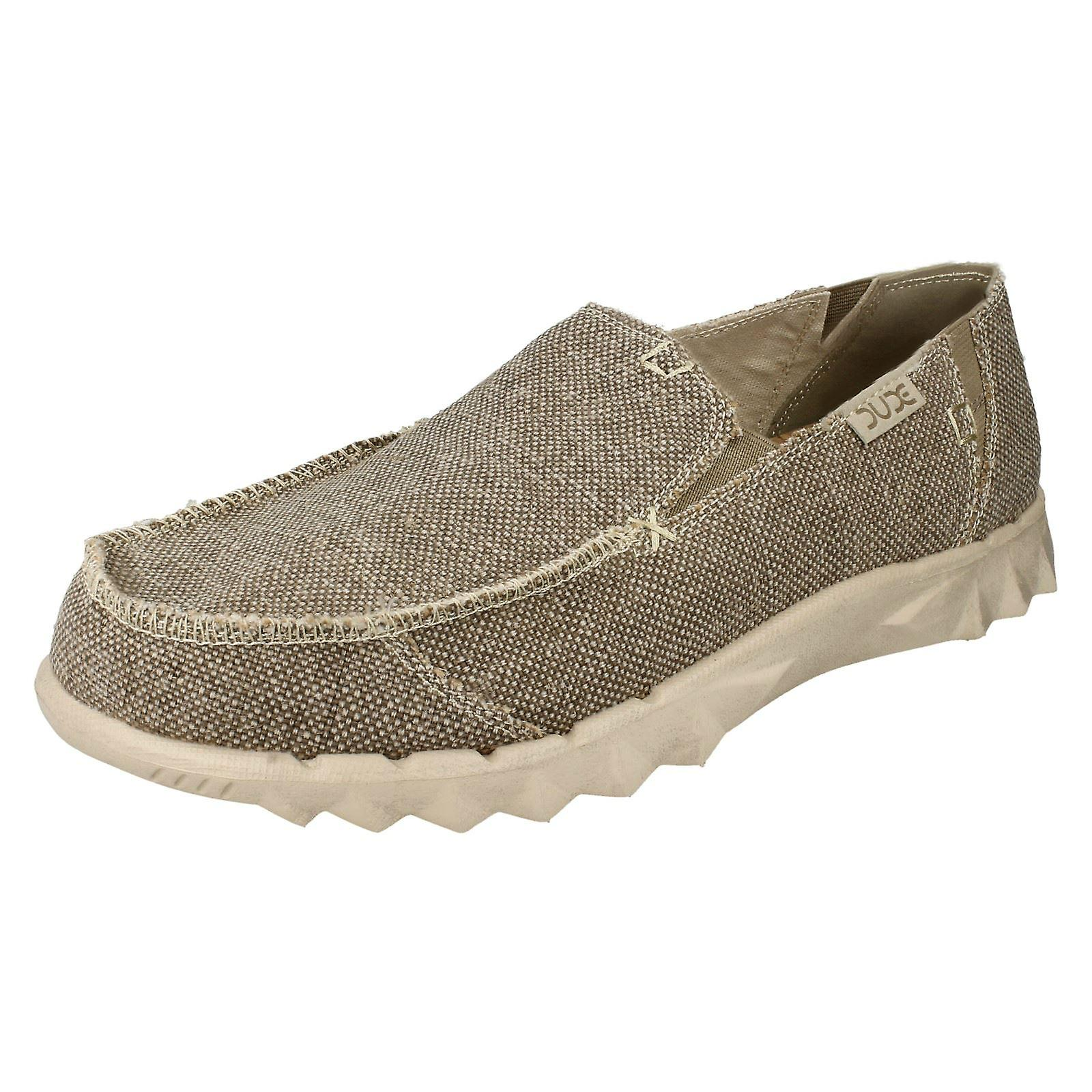 Mens Hey Dude Casual Shoes Farty Braided - Tundra Tundra Tundra Textile - UK Size 8 - EU Size 42 - US Size 9 52439e
