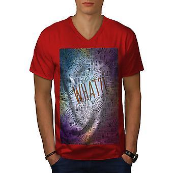 What Funny Saying Slogan Men RedV-Neck T-shirt   Wellcoda