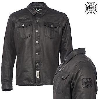 West Coast choppers mens long-sleeve shirt Califa motorcycle waxed speed shirt