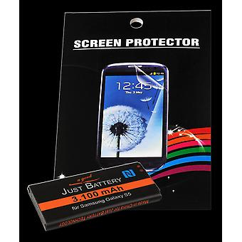 Battery + 4 x film for Samsung GT-i9600 Galaxy S5