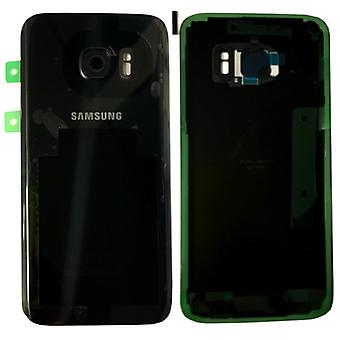 Samsung battery cover for Galaxy S7 G930F GH82-11384A + adhesive pad black