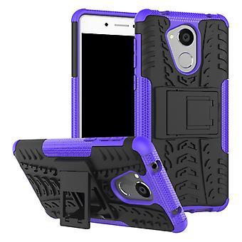 Hybrid Case 2teilig Outdoor Lila für Huawei Honor 6C Tasche Hülle Cover Schutz