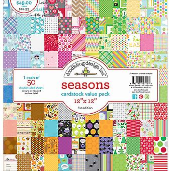 Doodlebug Value Kit Cardstock 12