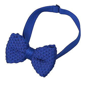 Grenadine azul Royal malha seda gravata borboleta