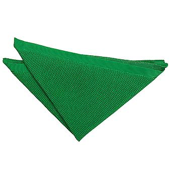 Forest Green Knitted Handkerchief / Pocket Square