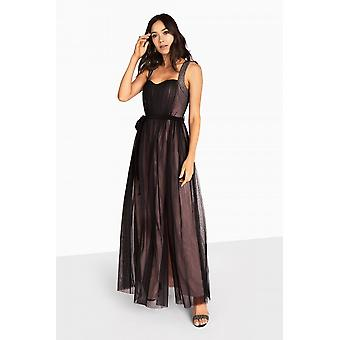 Little Mistress Beatrice Sweetheart Maxi Dress With Contrast Lining
