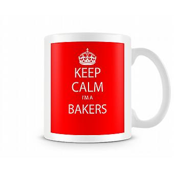 Keep Calm Im A Bakers Printed Mug Printed Mug