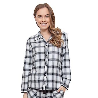 Cyberjammies 3822 Women's Mae Black Check Pajama Pyjama Top