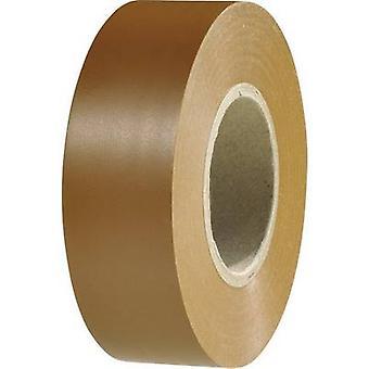 HellermannTyton 710-10608 Electrical tape HelaTape Flex 1000+ Brown (L x W) 20 m x 19 mm 1 Rolls
