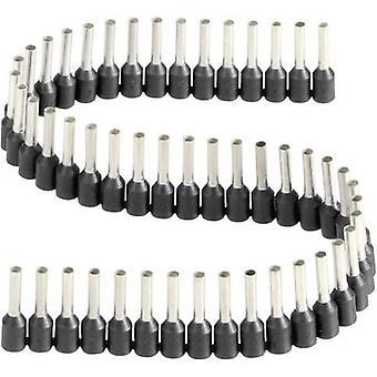470408.00050-Vogt Verbindungstechnik verlengstuk 1 x 1.50 mm² x 8 mm gedeeltelijk geïsoleerde zwart 1 PC('s)