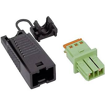 Mains connector WINSTA KNX Series (mains connectors) WINSTA KNX Socket, straight Total number of pins: 2 3 A Green WAGO 1 pc(s)