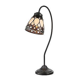 Intérieurs 1900 Brooklyn Swan Neck Tiffany Table Light