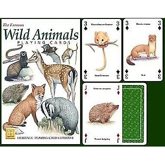 Animais selvagens conjunto de 52 cartas (+ Jokers)