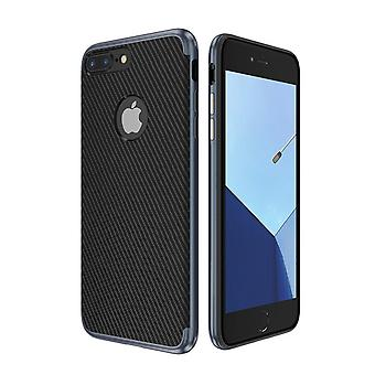 Hybrid silicone Silicon skin case cover for Apple iPhone 8 plus case cover bag blue