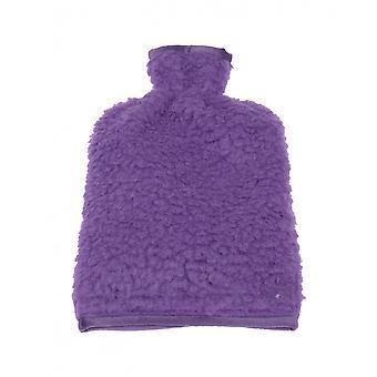 Varmt vand flaske dækning uld lilla 20/30 cm
