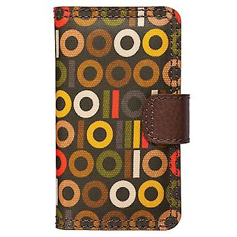 Orla Kiely rotativa Folio Case para Apple iPhone 4/4S, iPhone 3G/3GS (binário)