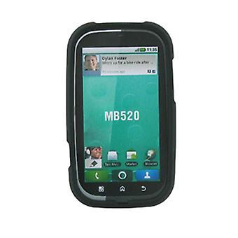 Étui rigide caoutchouté pour Motorola Bravo MB520 - noir