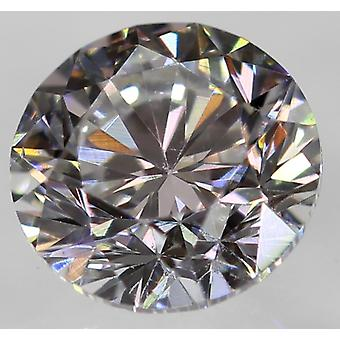 Certified 0.30 Carat D VVS2 Round Brilliant Enhanced Natural Diamond 4.18mm