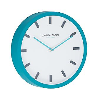 London Pop Pop Teal Blue Wall Clock
