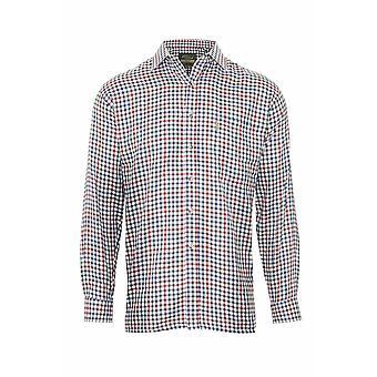 Champion Mens Country York Long Sleeve Shirt-Olive-Wine-Medium-Max 43