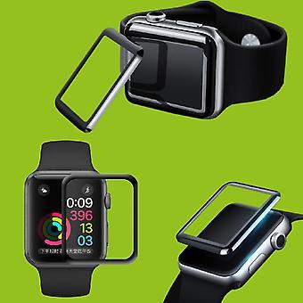 2 x 4 d 0,3 mm H9 plein verre dur bombé pour Apple Watch 4 accessoires de protection de 40 mm Gen glissent nouveau