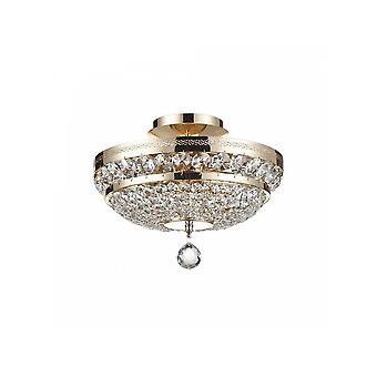Maytoni éclairage Ottilia lustre en cristal Diamant, or