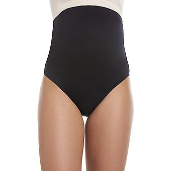 Camille Black Over The Bumb High Waist Maternity Briefs