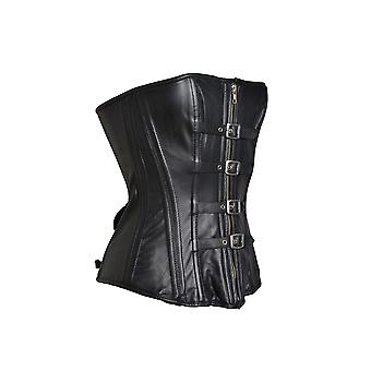 Honour Women's Corset in Leather Black Sexy Victorian Fantasy Outfit