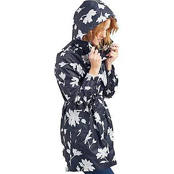 Joules Womens Golightly Long Waterproof Pack Away Coat